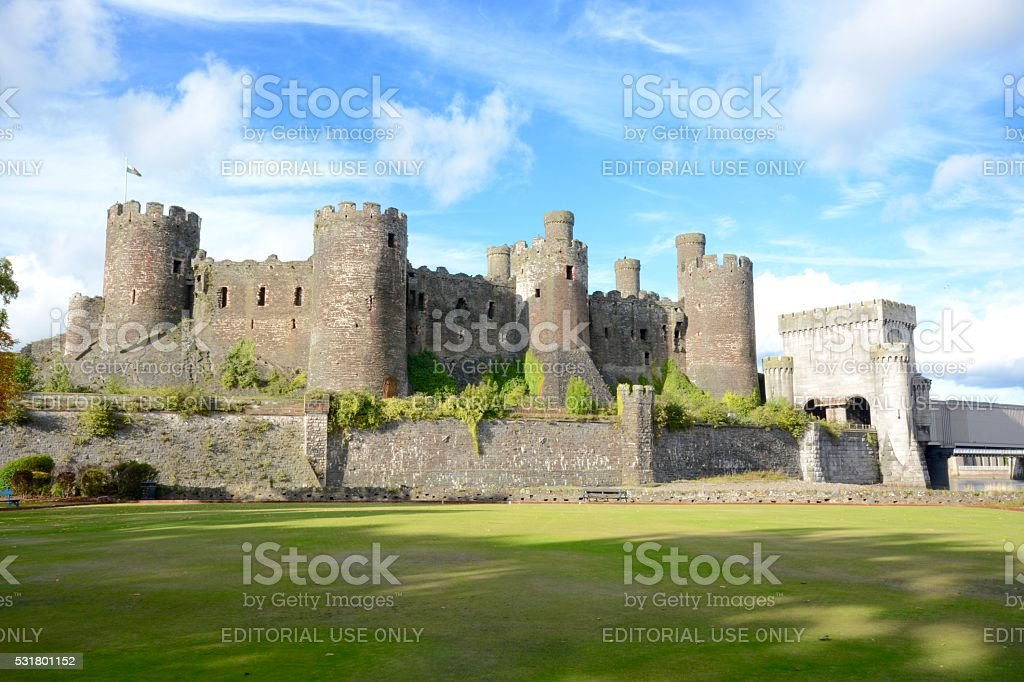 Conwy Castle stock photo