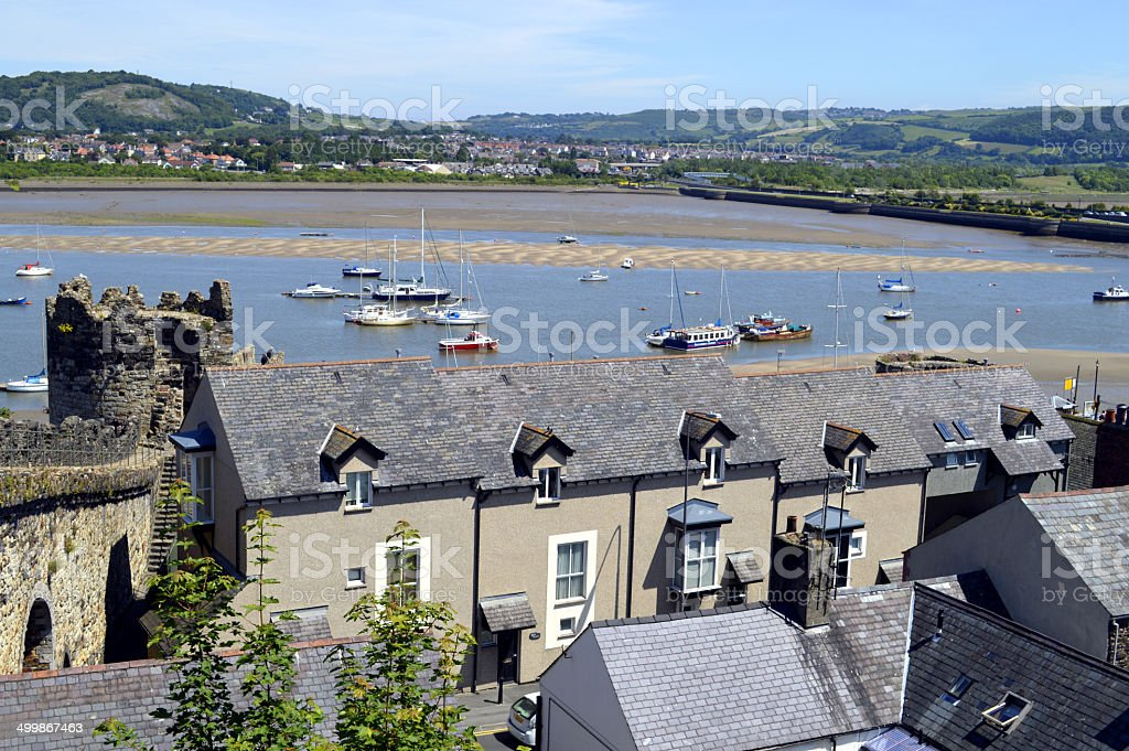 Conwy in North Wales, UK stock photo