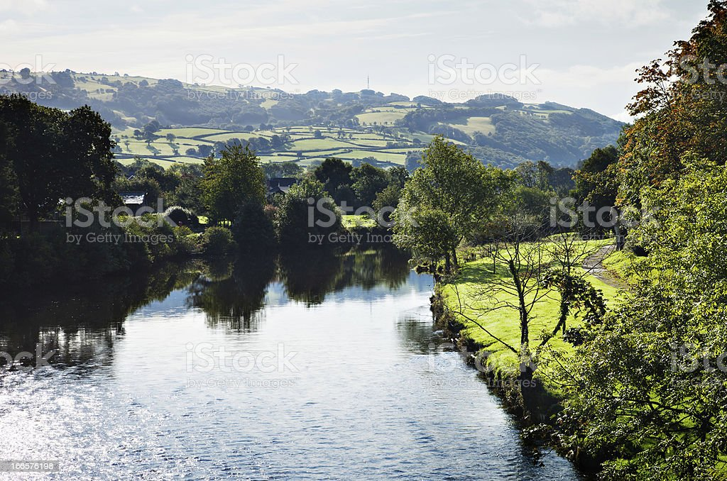 Conwy River banks stock photo