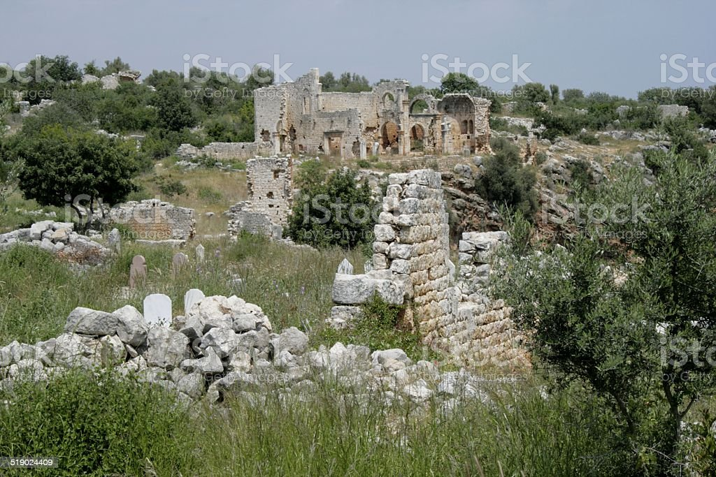Conytellis Kanytella, remote the basilica royalty-free stock photo