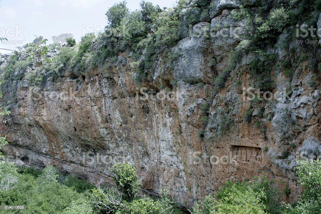 Conytellis Kanytella rock cut-reliefs royalty-free stock photo