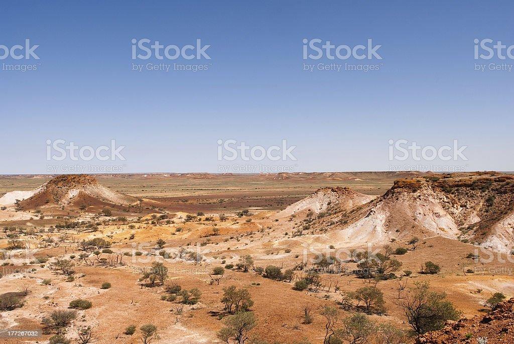 Coober Pedy desert stock photo