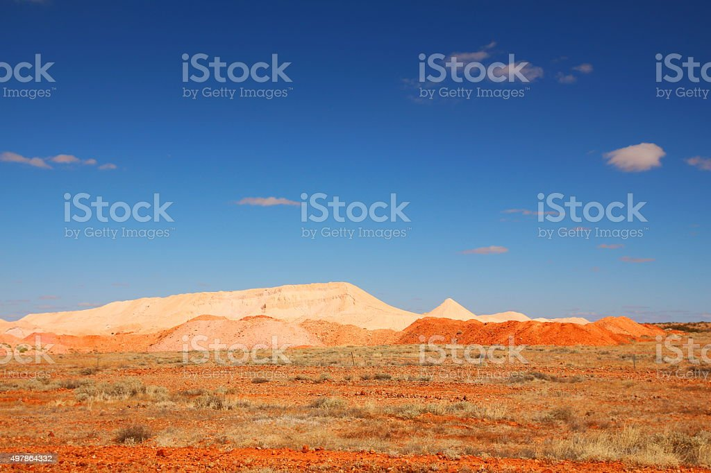 Coober Pedy opal mines stock photo
