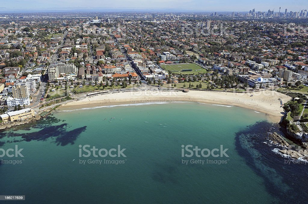 Coogee Beach Aerial royalty-free stock photo