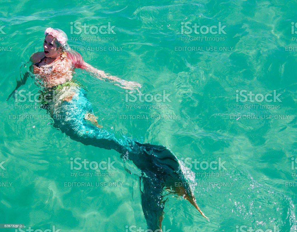 Coogee Beach Festival Mermaid stock photo