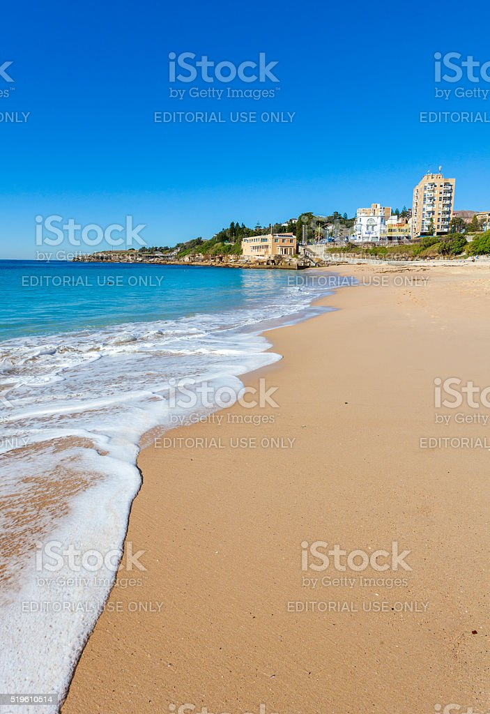Coogee Beach in Sydney, Australia stock photo