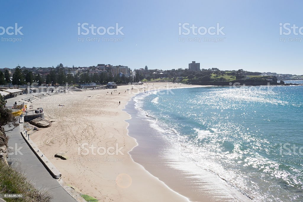 Coogee beach in Sydney stock photo