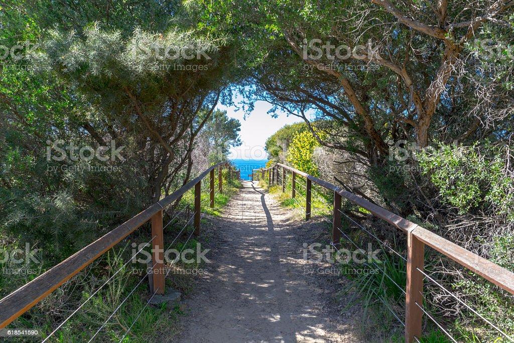 Coogee beach in Sydney stock photo