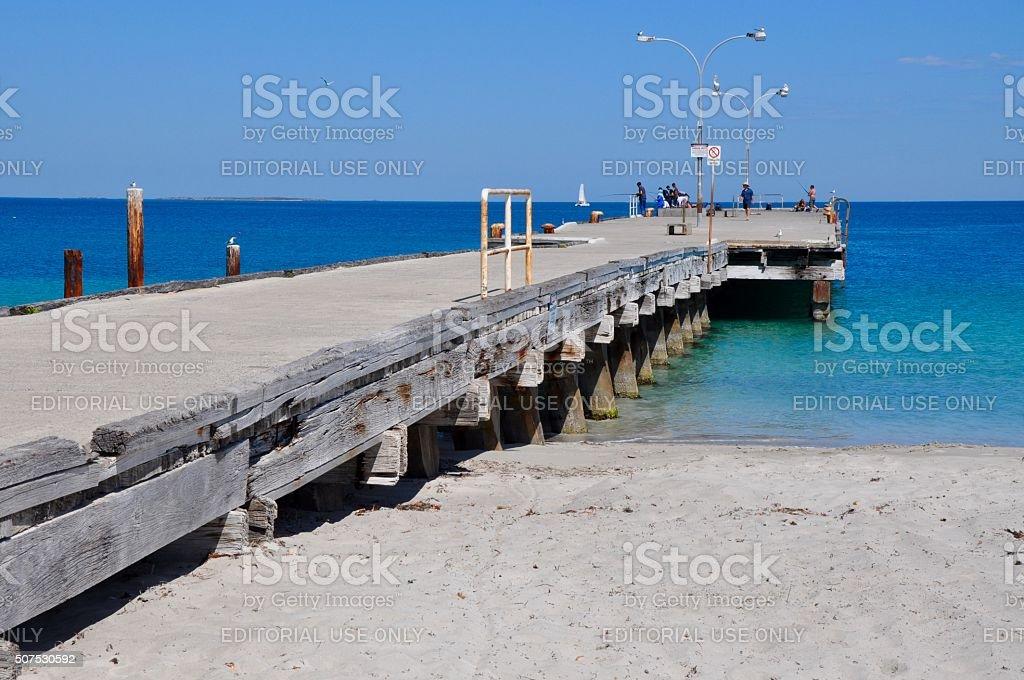 Coogee Beach, Western Australia: Fishing Spot stock photo