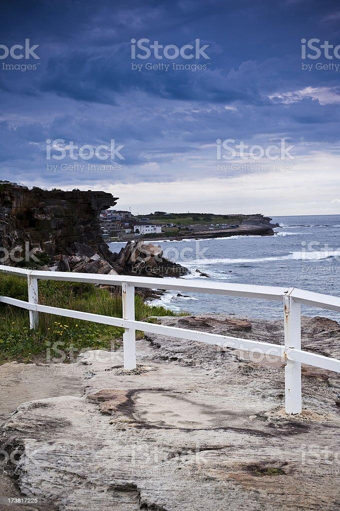 Coogee Bondi Rocks Walking trail Sydney Australia stock photo