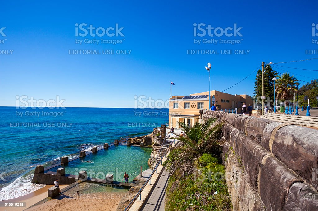 Coogee Surf Life Saving Club in Sydney, Australia stock photo