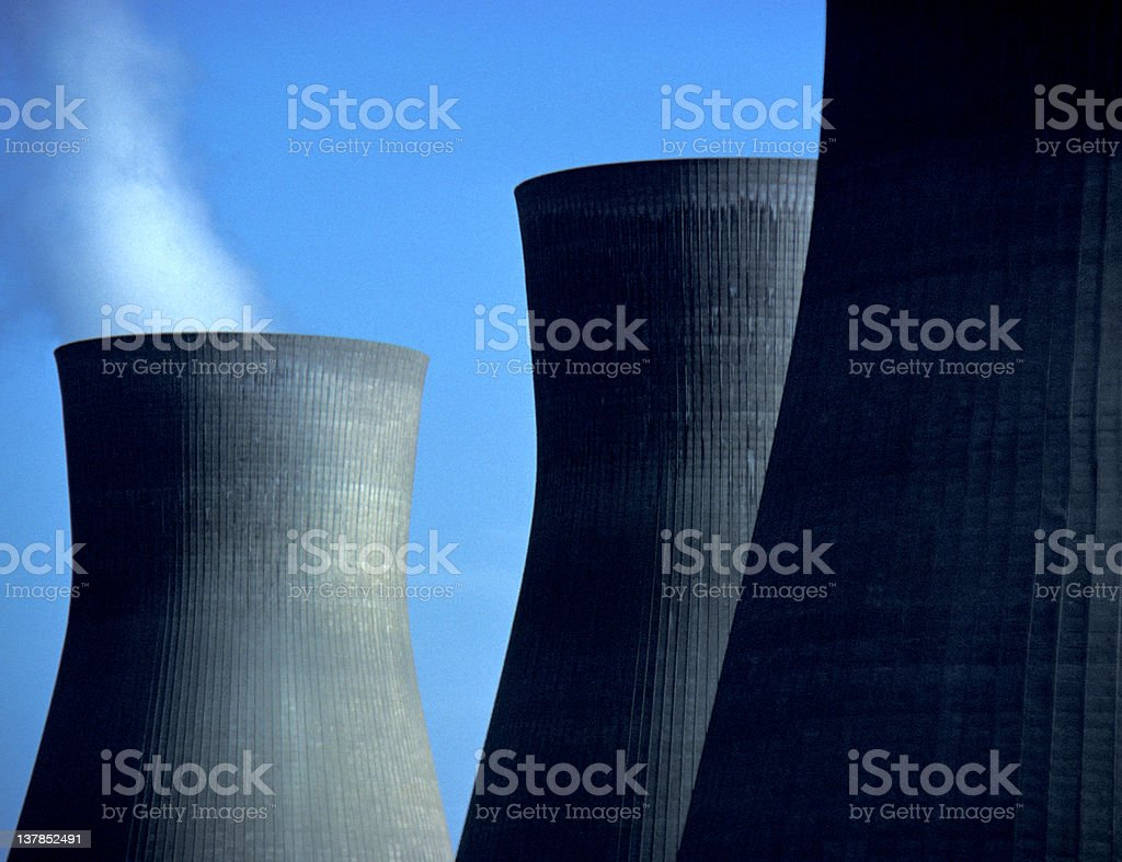 Cooing Towers, Nuclear power plant royalty-free stock photo