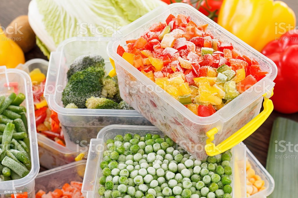 cook good frozen food recipes vegetables stock photo