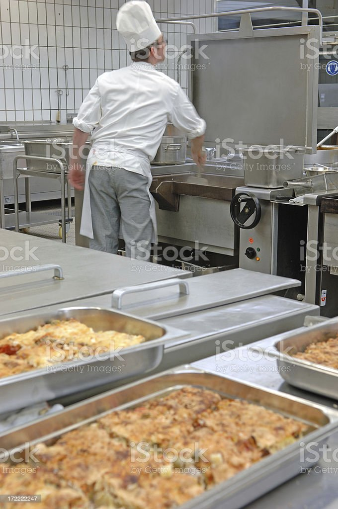 Cook in a kitchen royalty-free stock photo