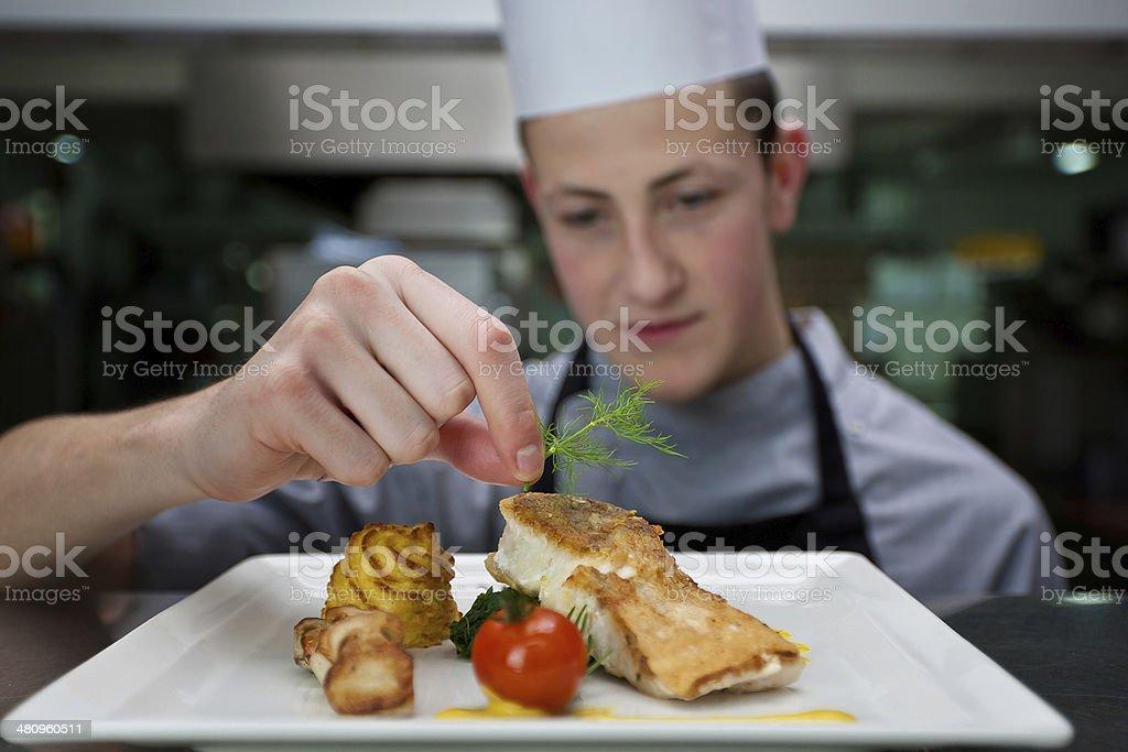 Koch beim anrichten  Koch Anrichten - Bilder und Stockfotos - iStock
