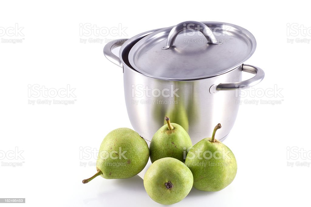 Cook some pears. stock photo
