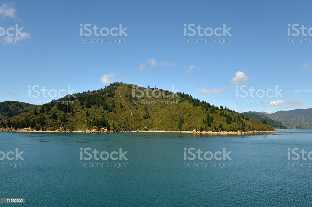Cook strait landscape, NZ stock photo