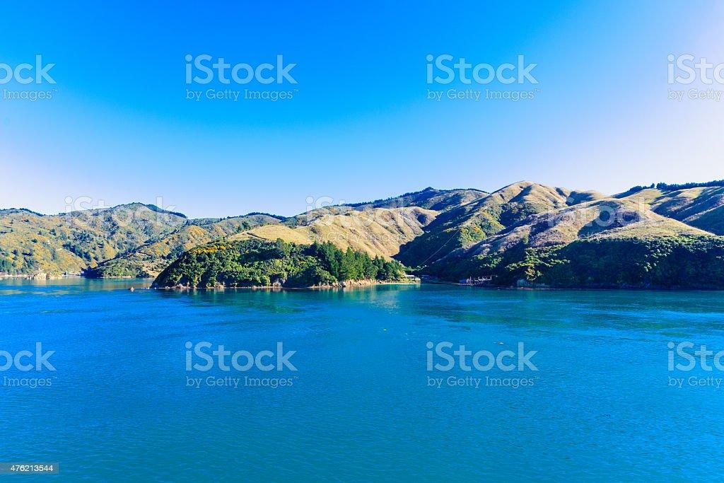 Cook Strait landscape stock photo
