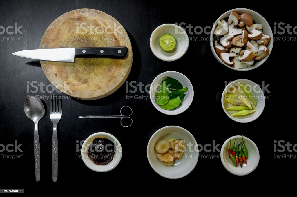 cook Various dishes stock photo