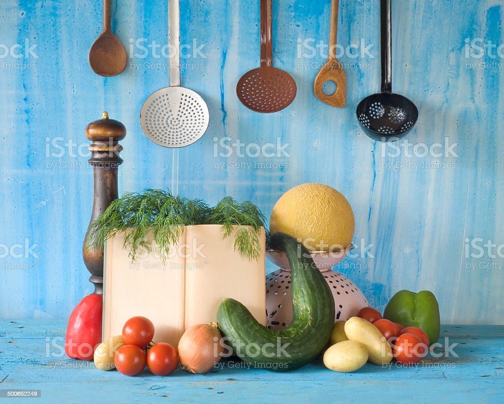 cookbook, recipe book, cooking concept stock photo