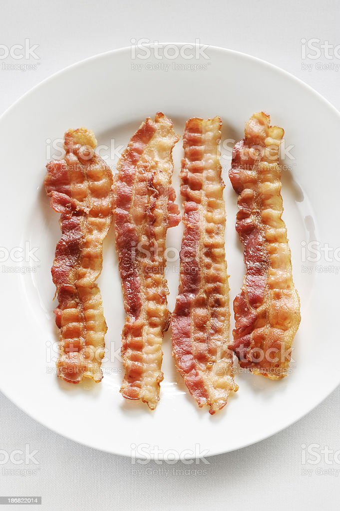 Cooked bacon royalty-free stock photo