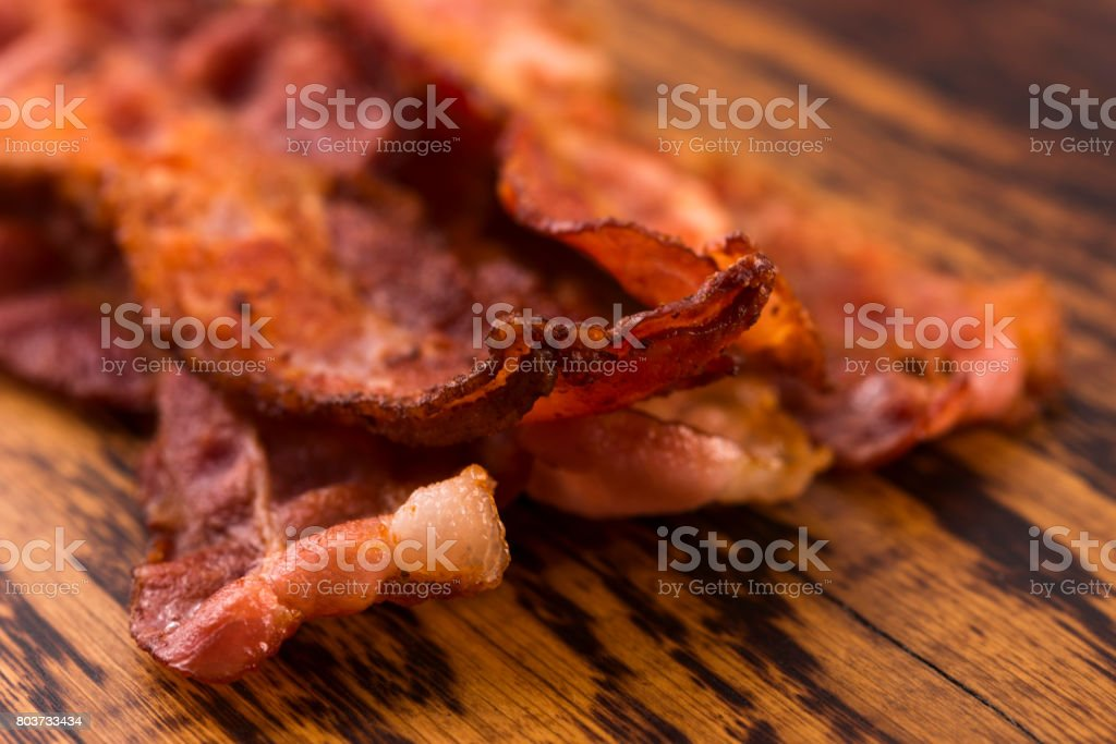 Cooked Bacon Strips stock photo