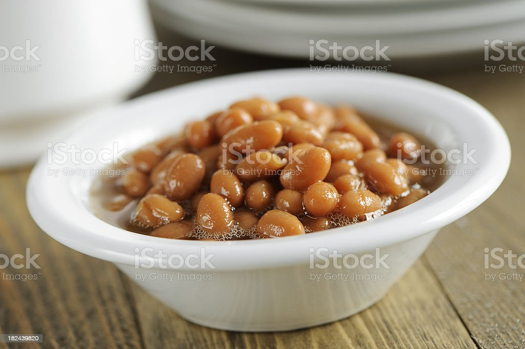 Cooked beans royalty-free stock photo