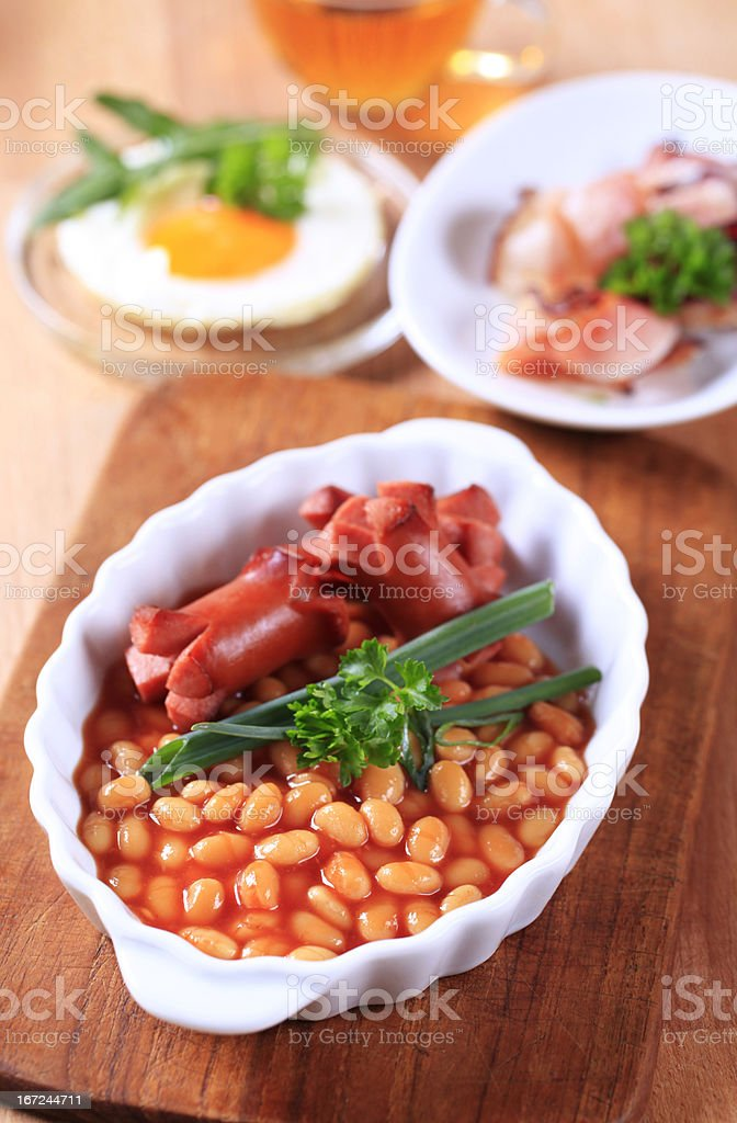 Cooked breakfast or brunch royalty-free stock photo