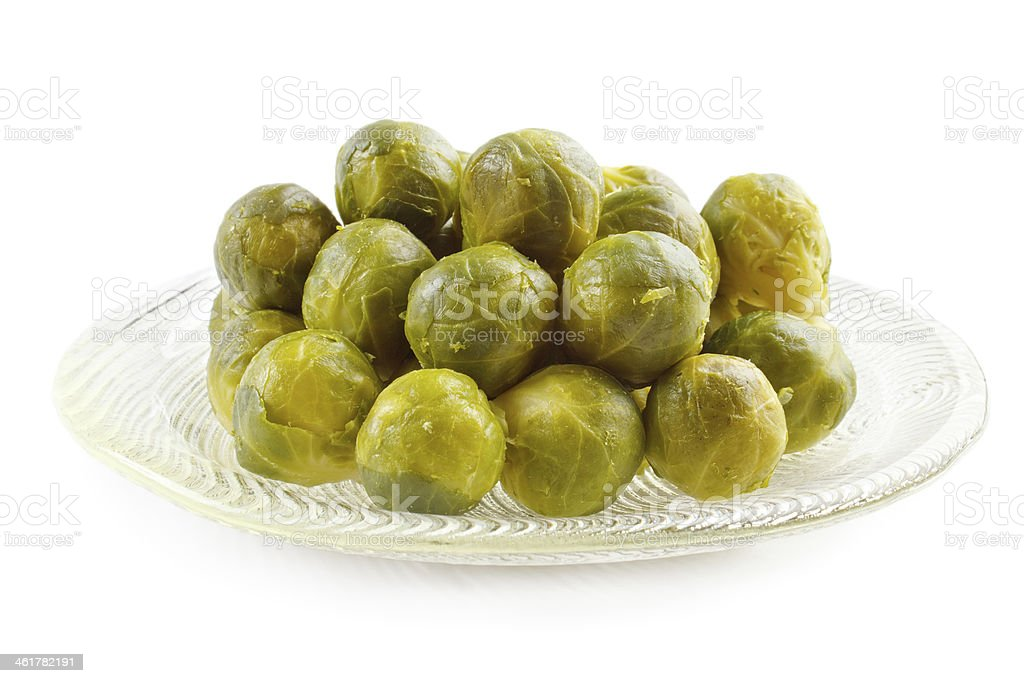 Cooked brussels sprouts royalty-free stock photo