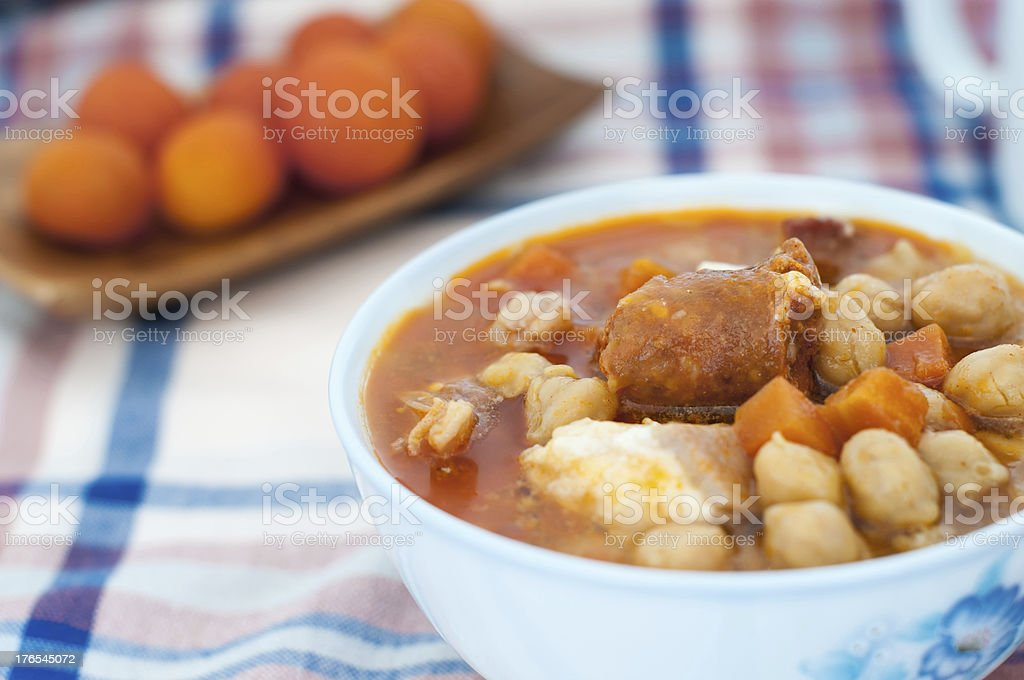 Cooked chickpeas stock photo