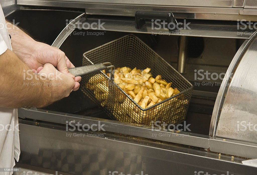 Cooked Chips stock photo