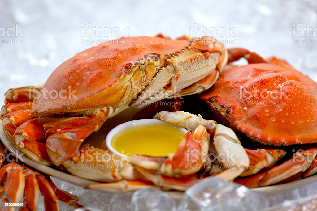 Cooked Crab stock photo