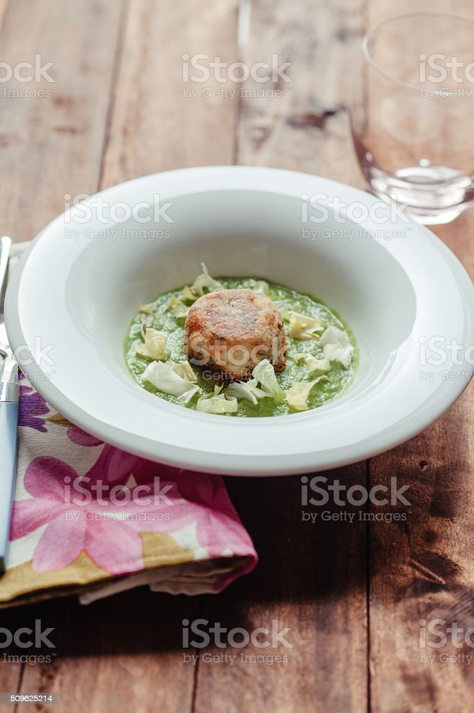 Cooked Endive stock photo
