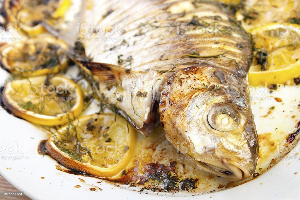 Cooked fish royalty-free stock photo