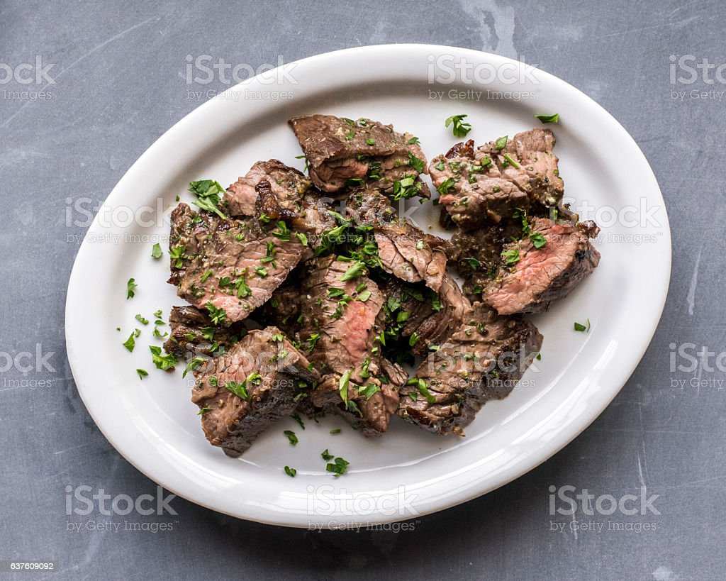 Cooked Flank Steak stock photo