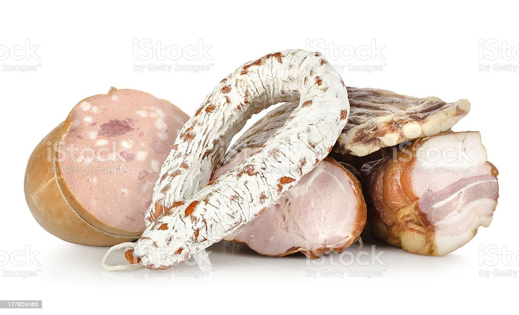 Cooked meat isolated stock photo