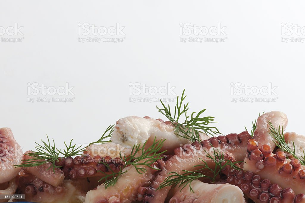 Cooked Octopus royalty-free stock photo