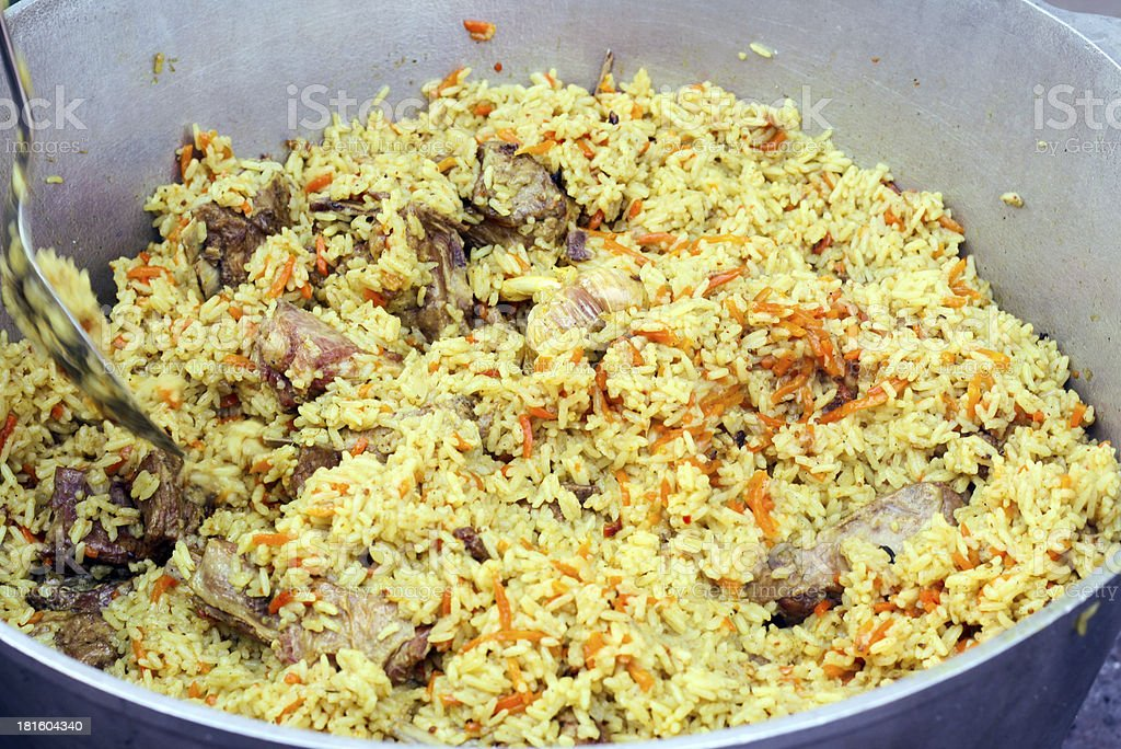 Cooked pilaf royalty-free stock photo