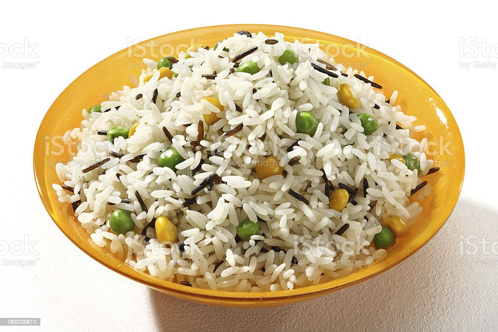 Cooked pilaf rice royalty-free stock photo