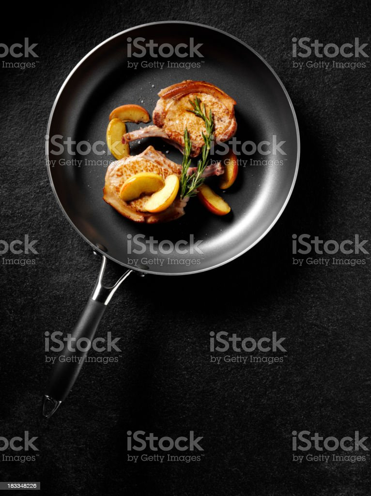 Cooked Pork Chops royalty-free stock photo