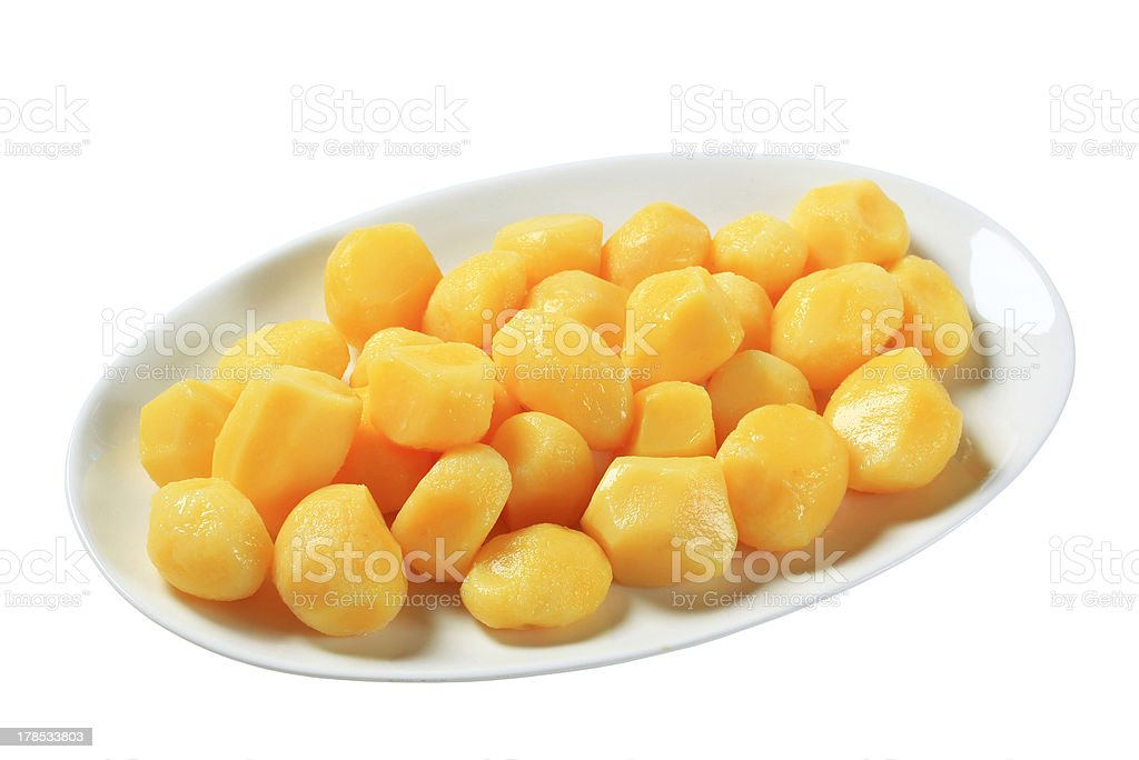 Cooked potatoes royalty-free stock photo