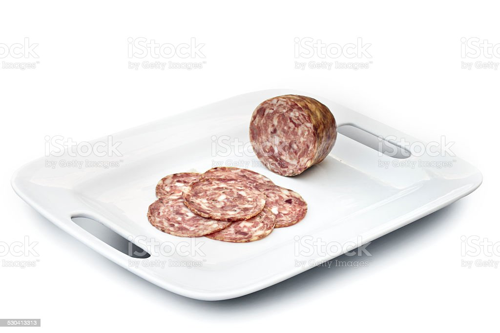 vassoio salame cotto stock photo