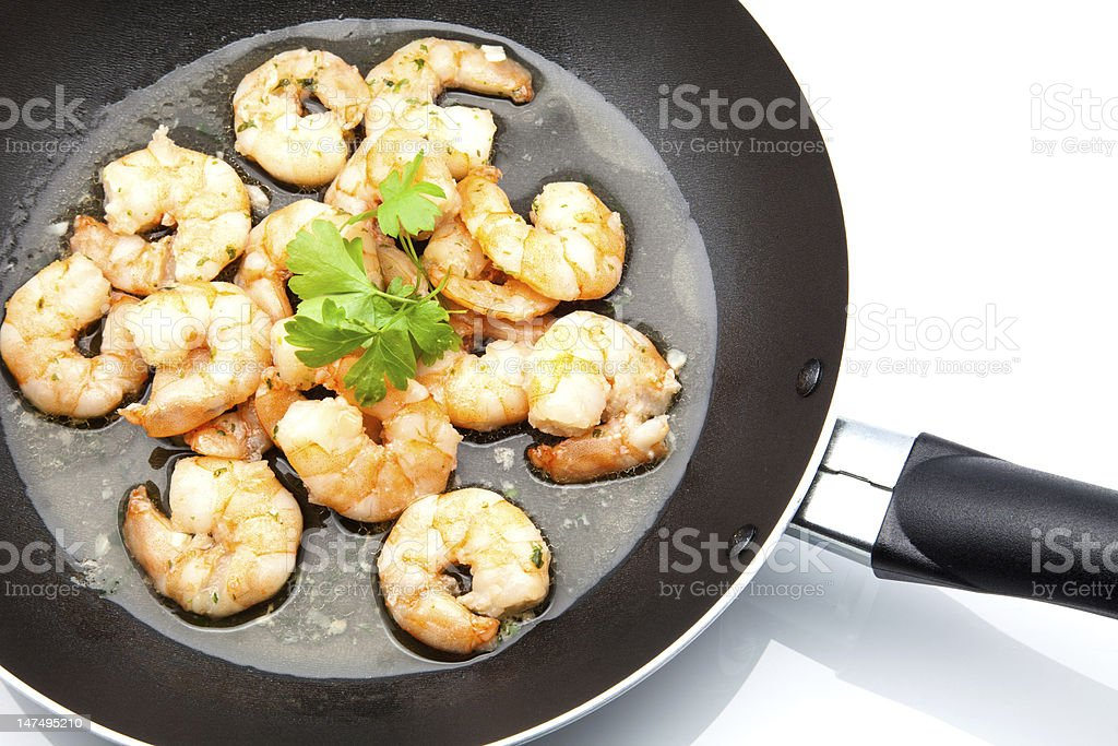 cooked scampi stock photo