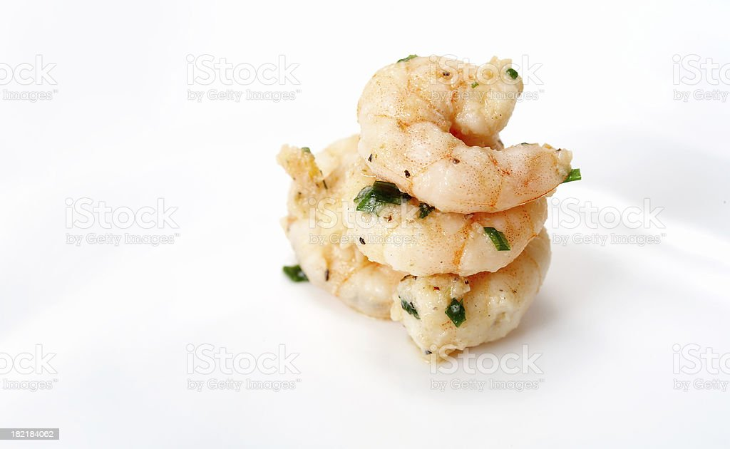 Cooked shrimp  Sea Food royalty-free stock photo