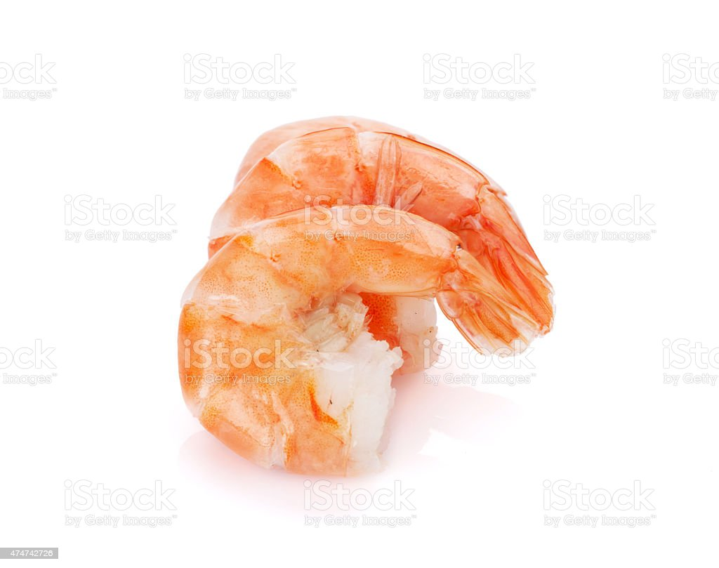 Cooked shrimps stock photo