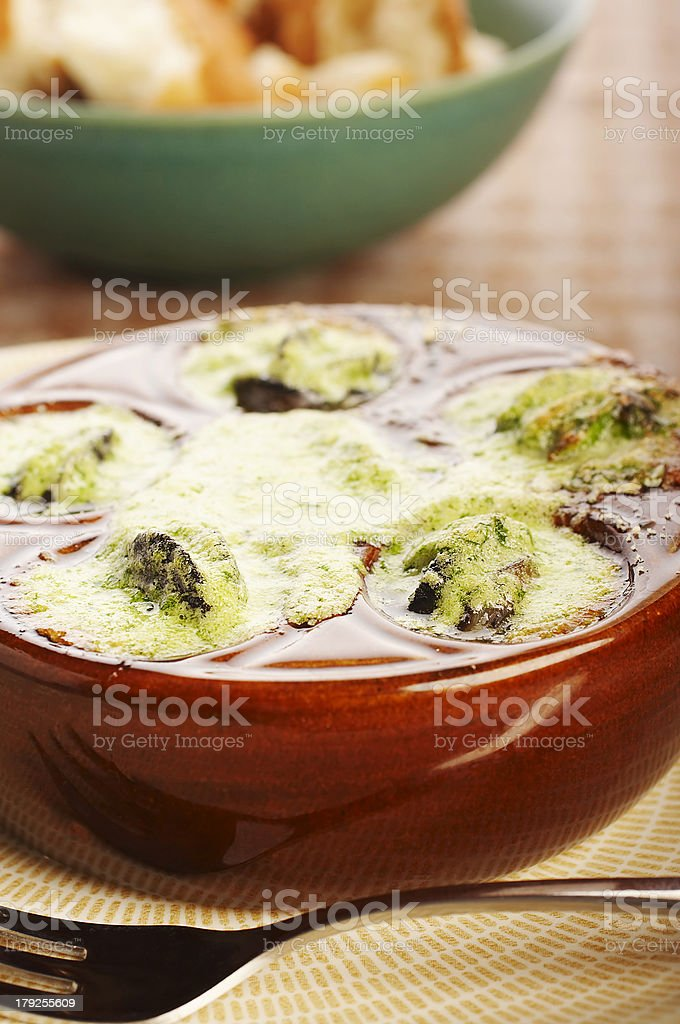 Cooked snails royalty-free stock photo