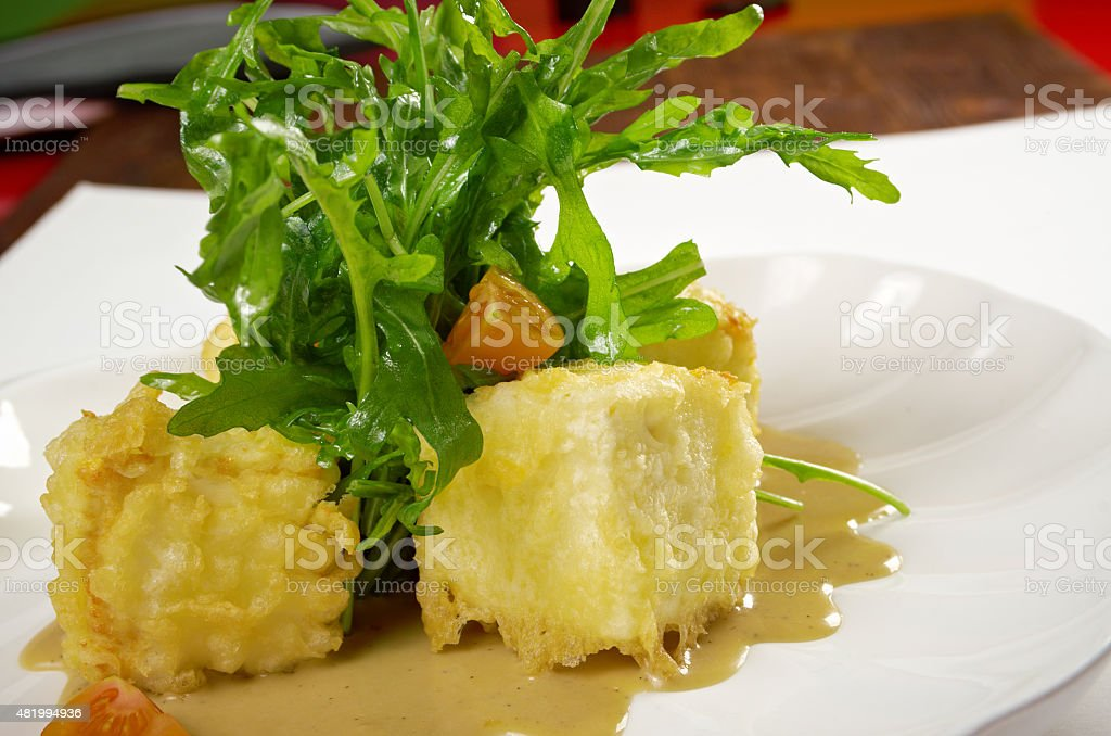 cooked tofu and vegetables stock photo