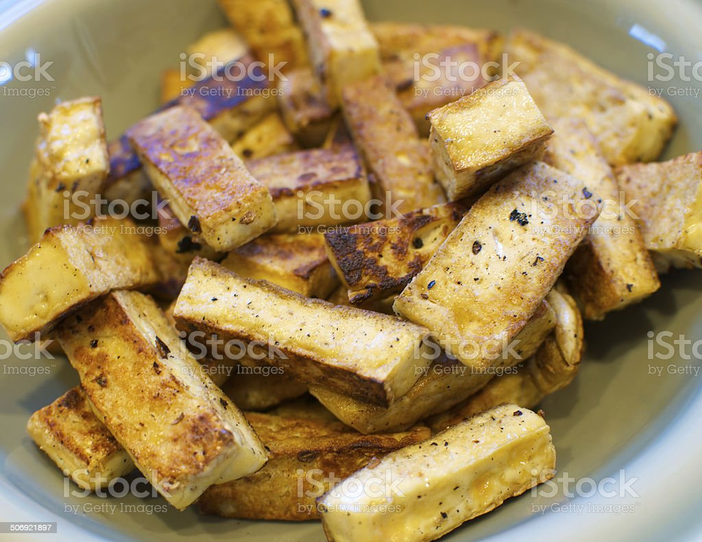 Cooked Tofu royalty-free stock photo
