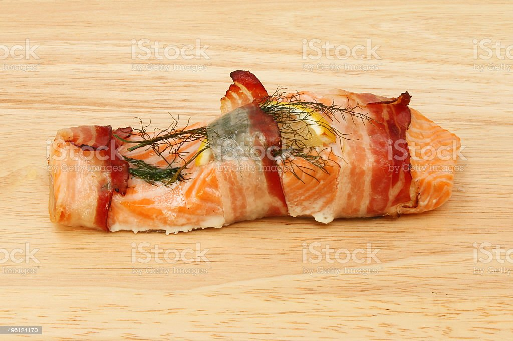 Cooked trout stock photo