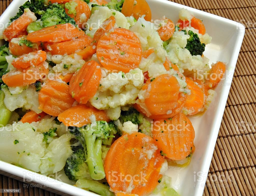 Cooked vegetables royalty-free stock photo